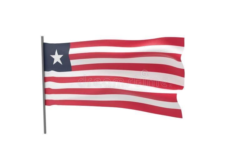 利比里亚的旗子 皇族释放例证