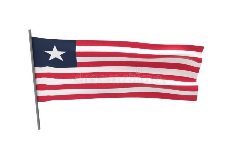 利比里亚的旗子 库存例证