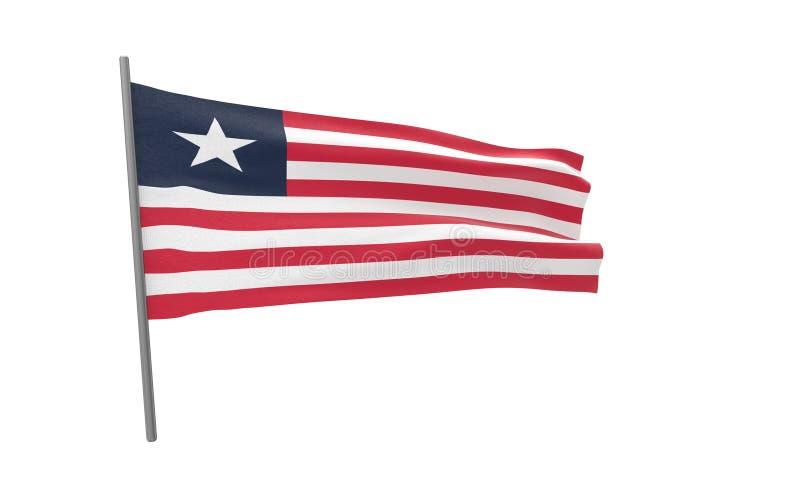 利比里亚的旗子 向量例证