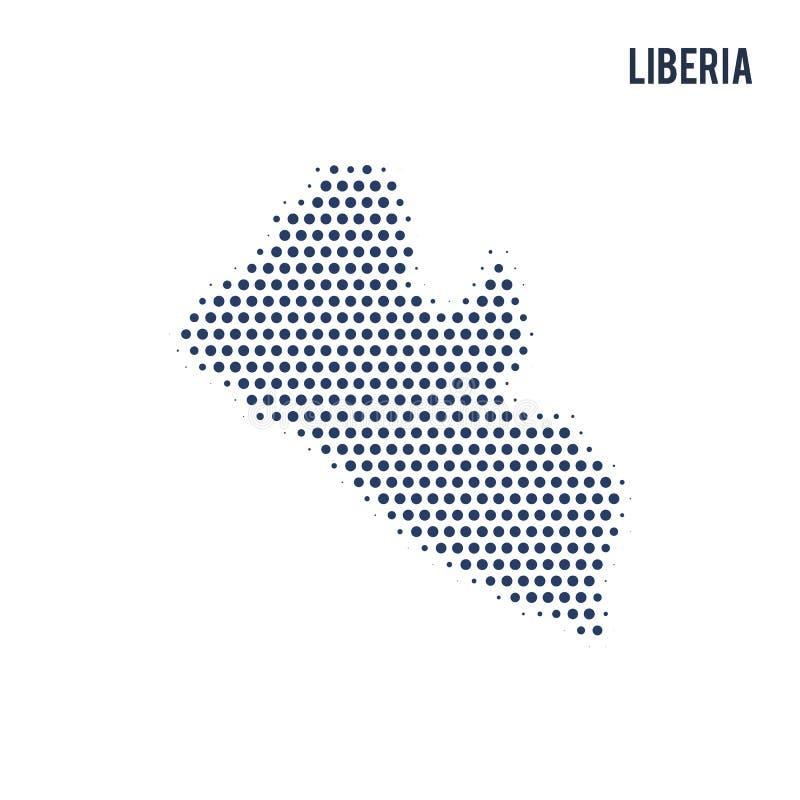 利比里亚的被加点的地图在白色背景隔绝了 向量例证