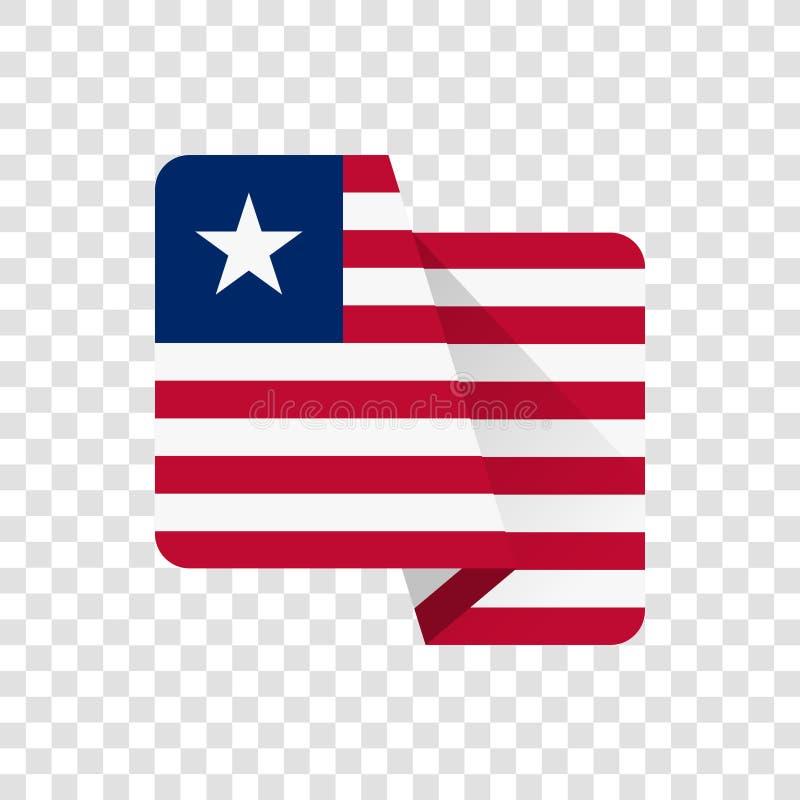 利比里亚-国旗 库存例证