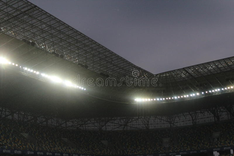 利沃夫州竞技场(体育场) 免版税库存照片