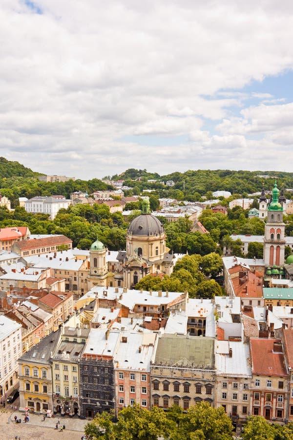 利沃夫州,乌克兰看法的美好的上流  免版税库存照片
