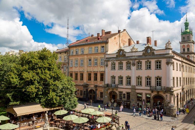 利沃夫州-乌克兰的历史的中心 库存照片