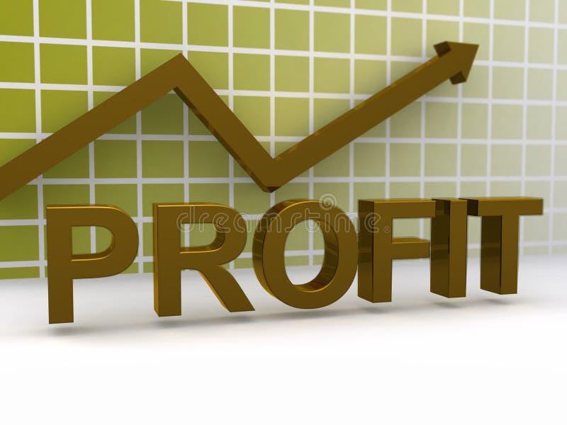 利润上升的腾飞 向量例证