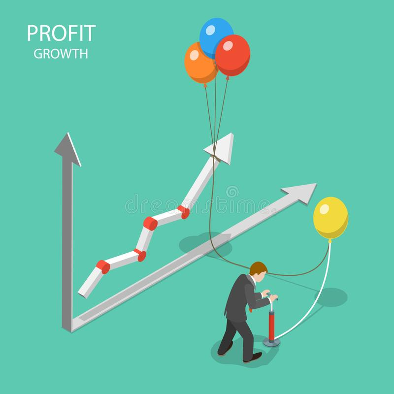 利润增长平的等量传染媒介概念 库存例证