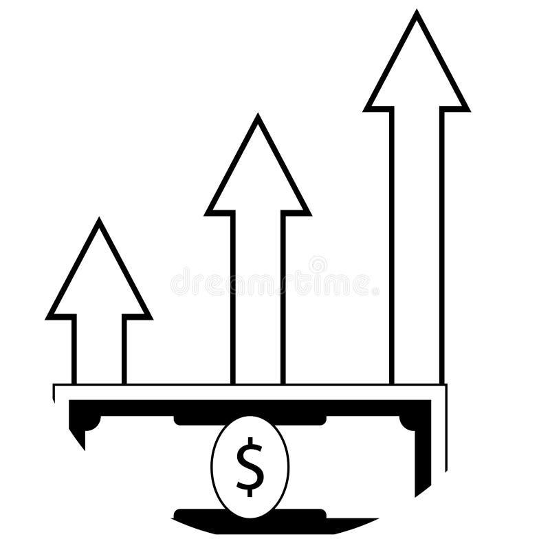 利润增长 库存例证