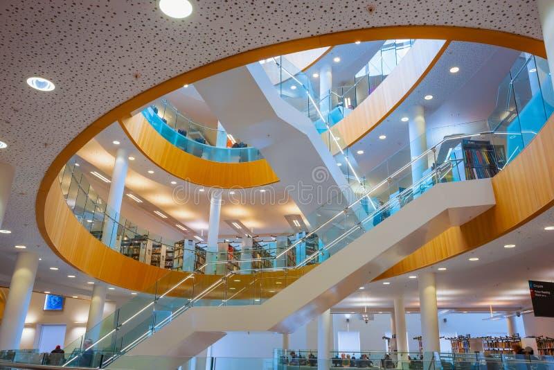 利物浦中央图书馆在利物浦,英国 免版税库存照片