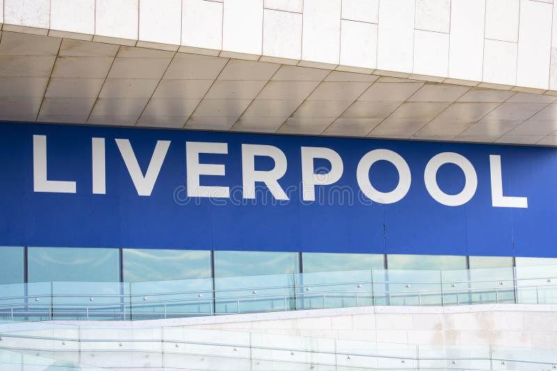 利物浦在英国 免版税库存图片