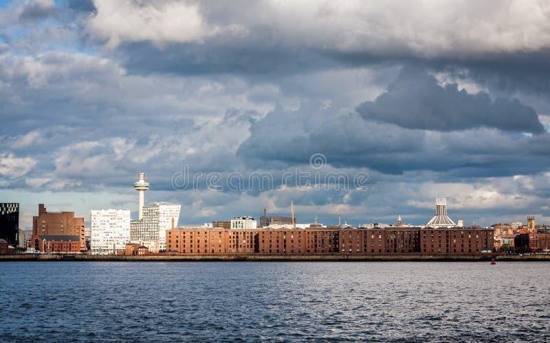 利物浦地平线和Waterfromt 免版税库存照片