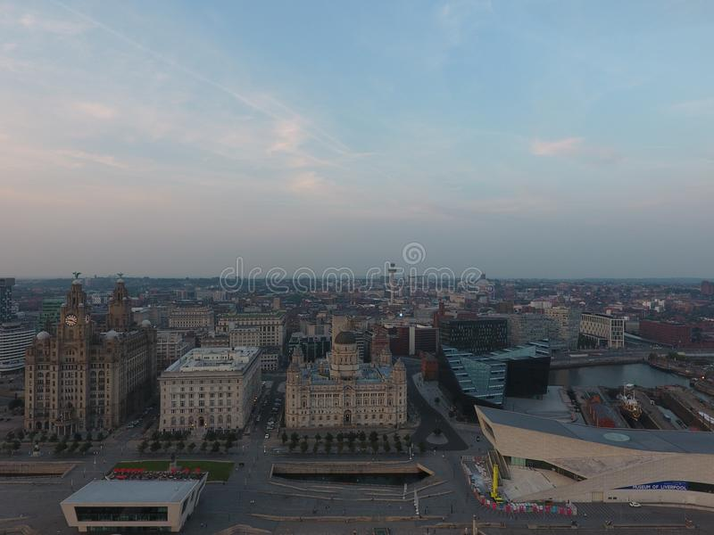 利物浦地平线 库存图片