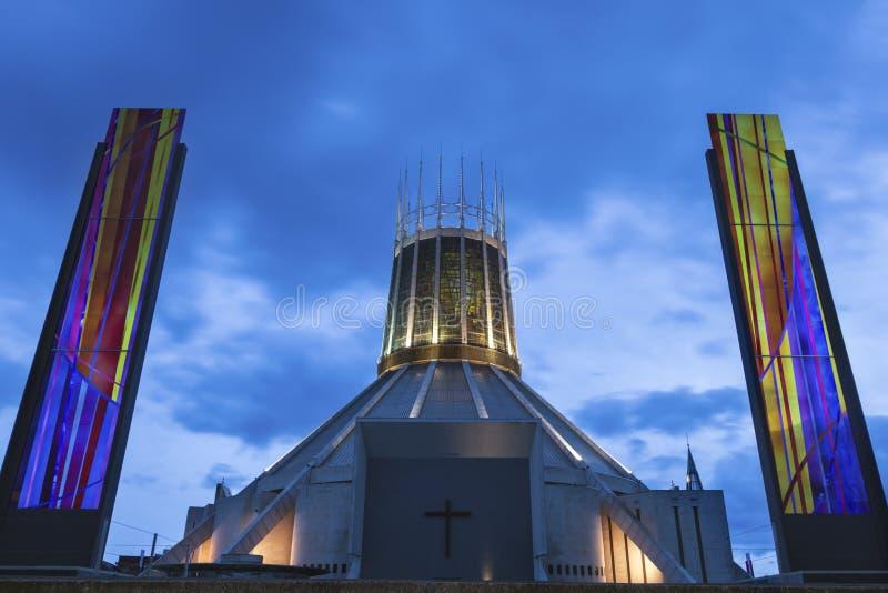 利物浦城市居民大教堂 库存图片