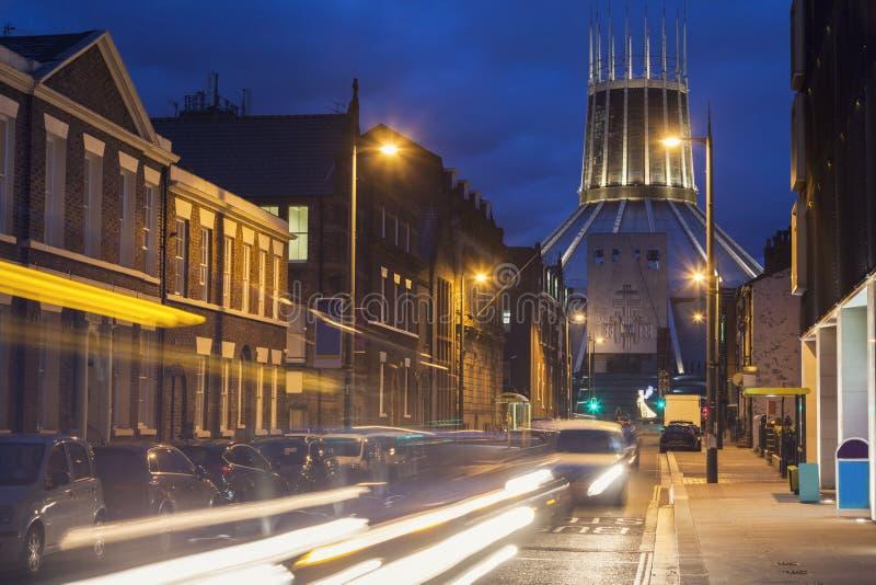 利物浦城市居民大教堂 免版税图库摄影