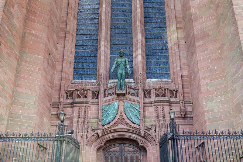 利物浦大教堂在利物浦,英国 免版税库存图片