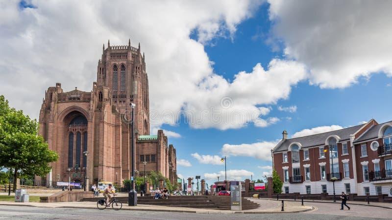 利物浦大教堂在利物浦,英国 免版税图库摄影