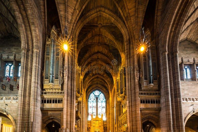 利物浦大教堂在利物浦,英国 库存图片