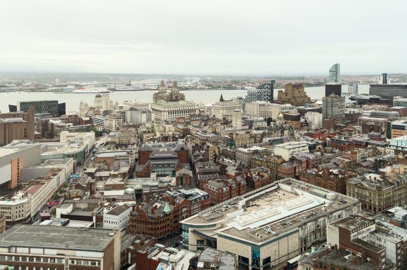 利物浦市中心 免版税图库摄影