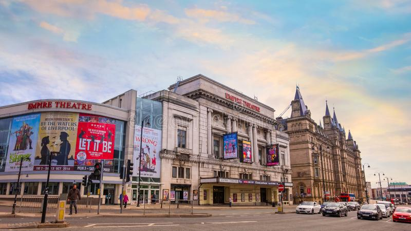 利物浦帝国剧院在利物浦,英国 图库摄影
