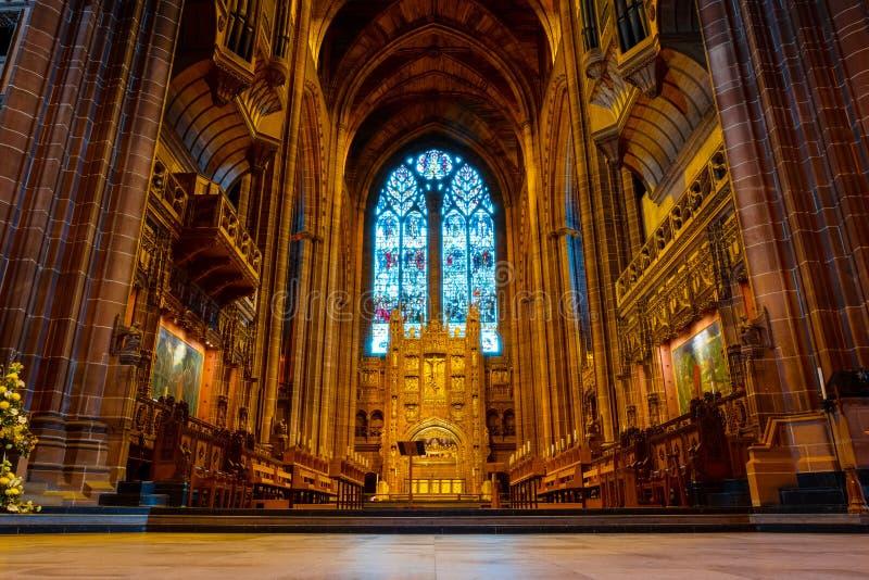 利物浦座堂或上升的基督的大教堂教会,利物浦在英国 库存图片