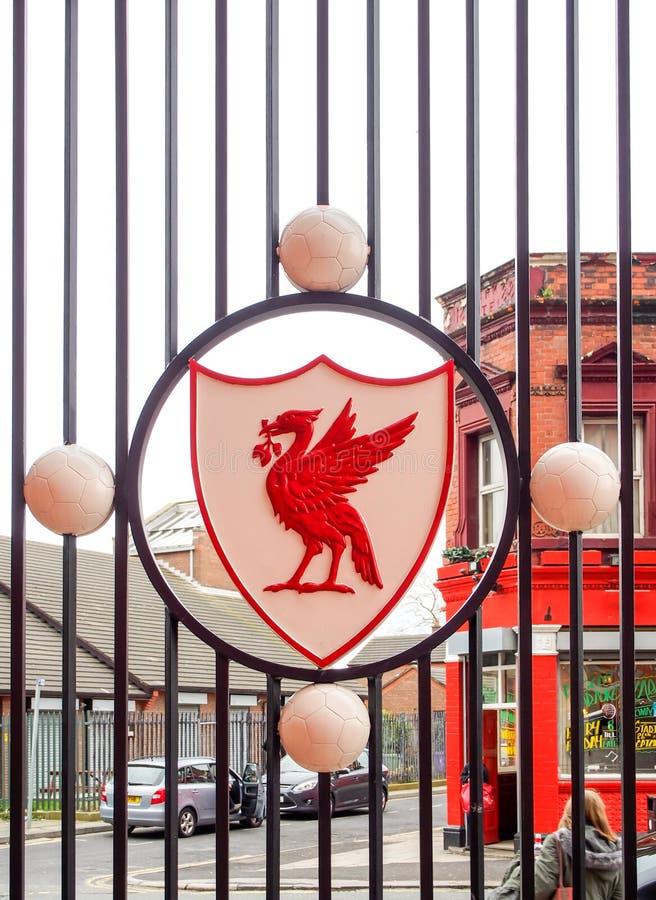 利物浦橄榄球俱乐部冠,利物浦,英国 免版税图库摄影