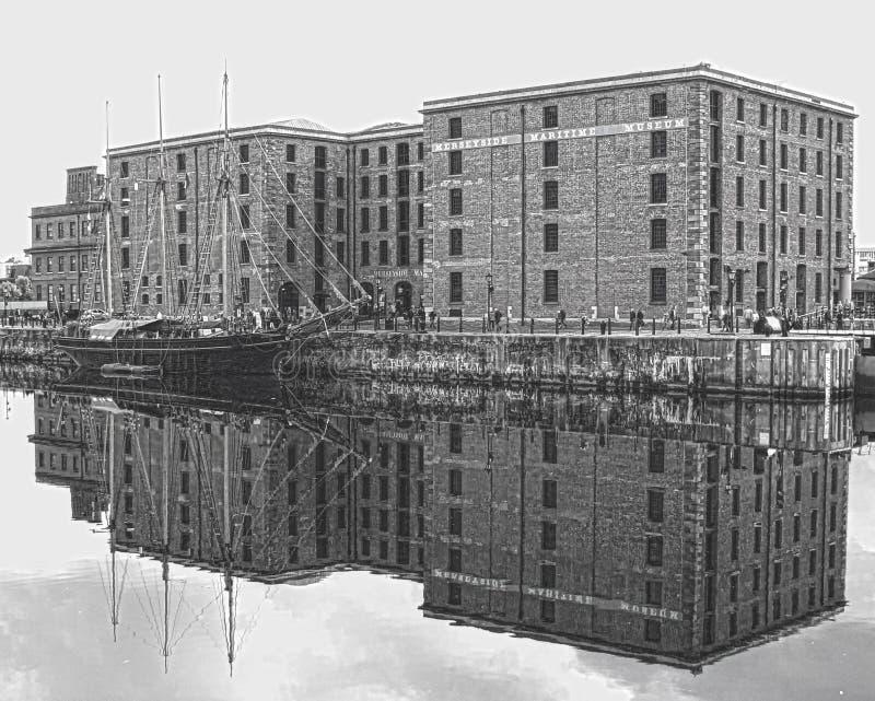 利物浦船坞 免版税图库摄影