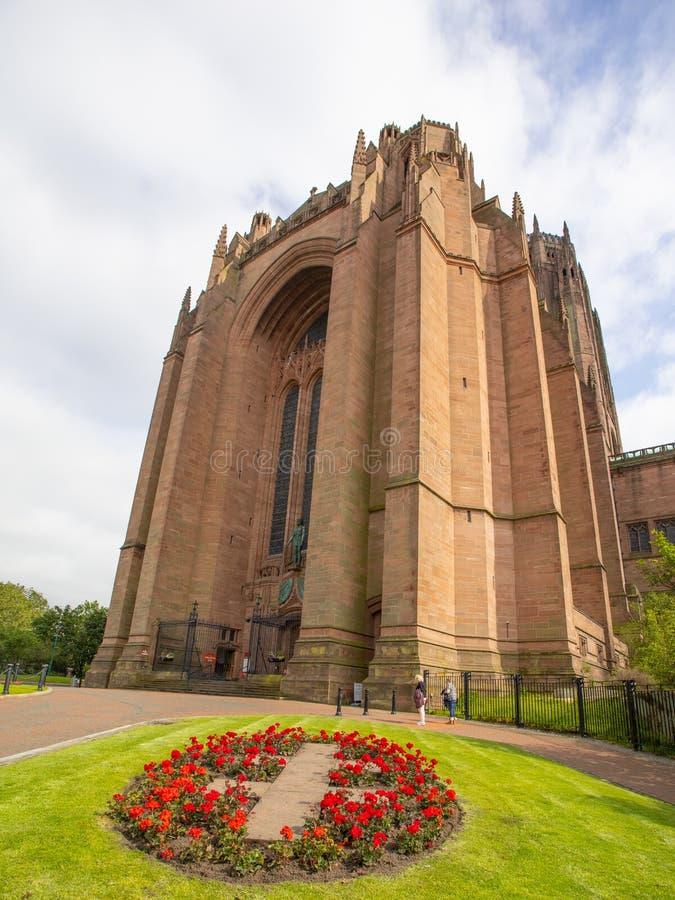 利物浦英国国教大教堂 免版税库存照片