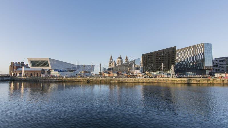 利物浦阿尔伯特船坞-江边 免版税库存图片