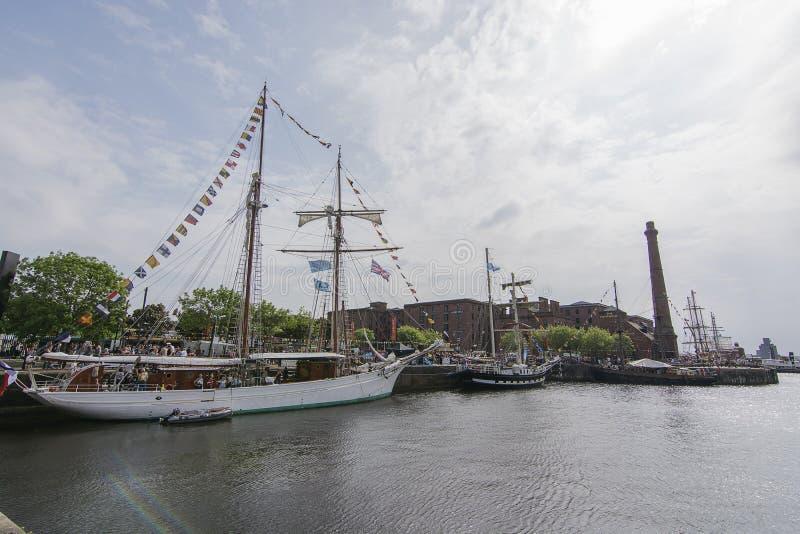 利物浦阿尔伯特船坞-高船节日 图库摄影