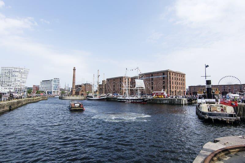 利物浦阿尔伯特船坞-高船节日 免版税库存图片