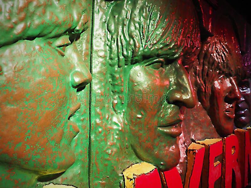 利物浦,洞穴俱乐部,Beatles面对,城市中心的客栈 免版税库存图片