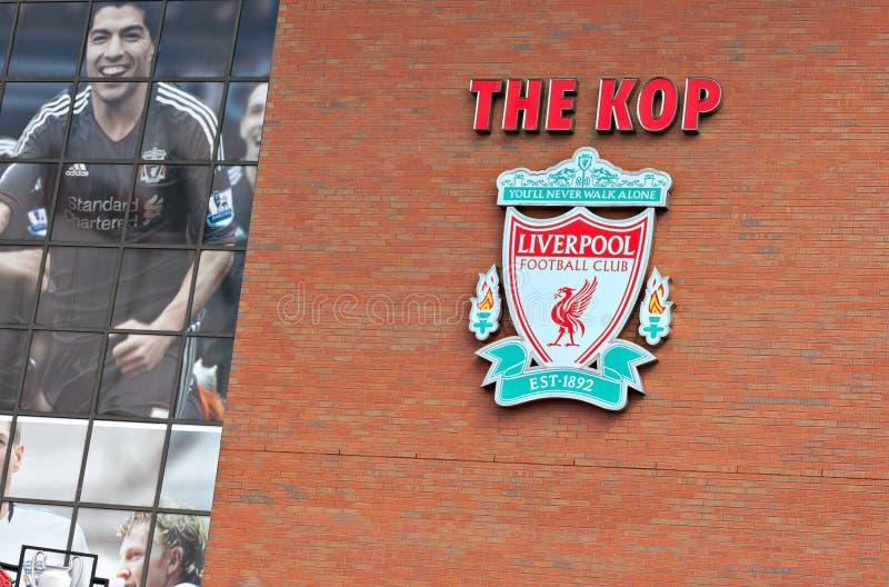 利物浦,英国, 2012年4月21日。利物浦橄榄球俱乐部冠, w 免版税库存照片