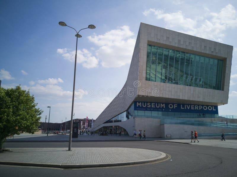 利物浦,英国- MAY19 2018年:利物浦新的博物馆在2012年打开了 免版税库存照片