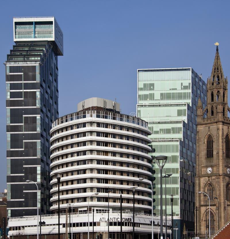 利物浦-结构-英国 免版税库存照片