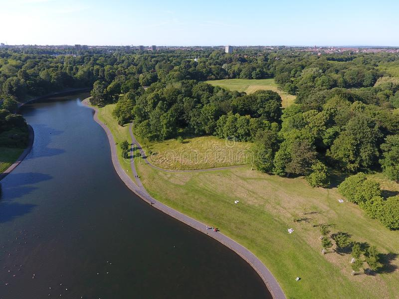 利物浦Sefton Park湖 免版税库存照片