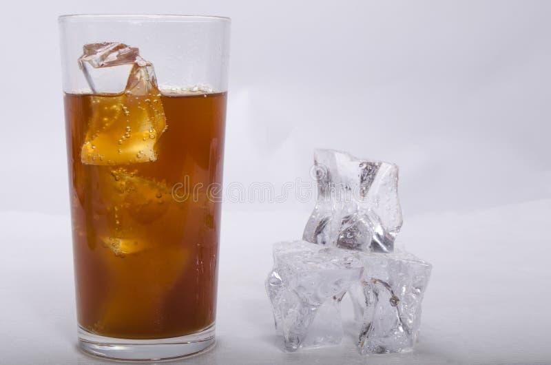 利益和冰的威士忌酒 免版税库存图片