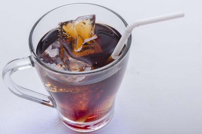 利益和冰的威士忌酒 库存照片