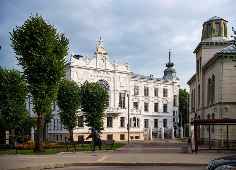 利耶帕亚,拉脱维亚- 2016年7月24日:利耶帕亚街道  利耶帕亚是a 免版税库存照片