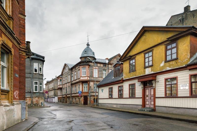 利耶帕亚,拉脱维亚街道  免版税库存图片