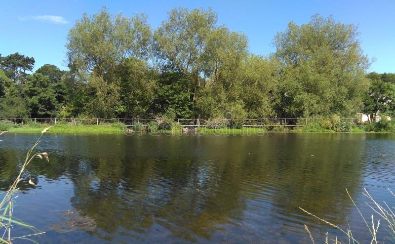 利菲河在都伯林,纪念公园的爱尔兰 库存图片