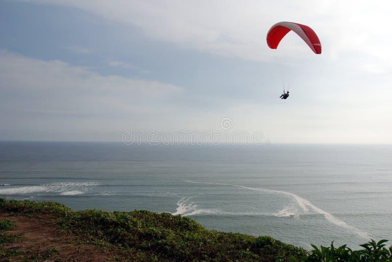 利马滑翔伞秘鲁 免版税库存照片
