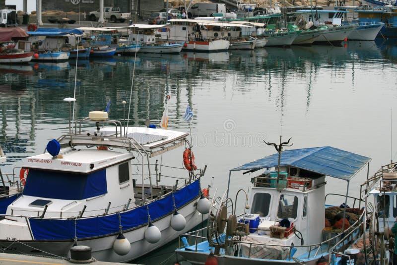 利马索尔旧港口在11月 库存图片
