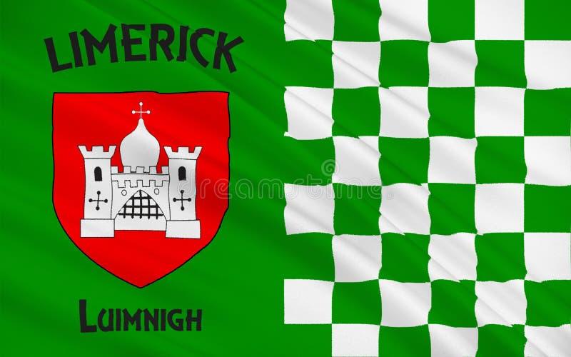 利默里克郡旗子是一个县在爱尔兰 皇族释放例证