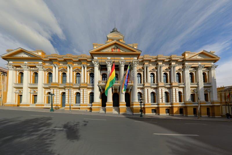 玻利维亚的政府大厦,拉巴斯 免版税库存图片