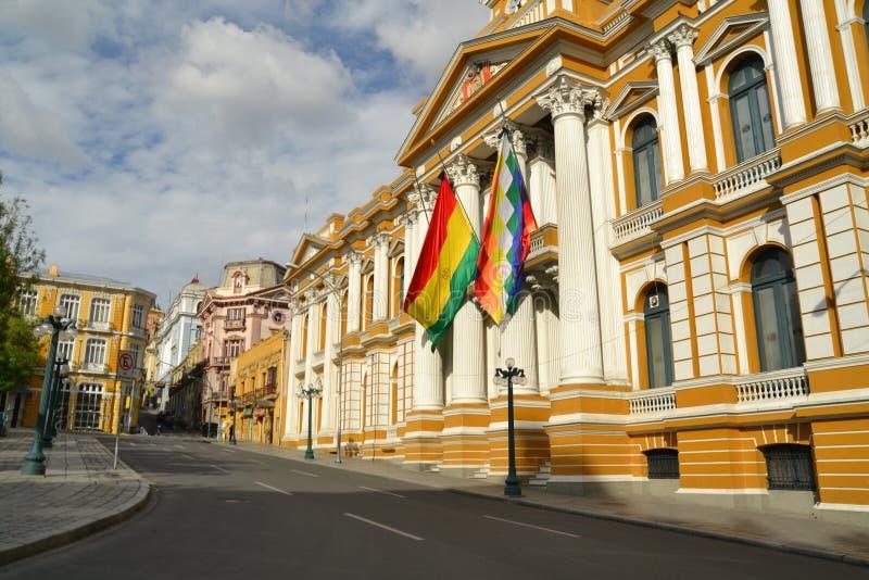 玻利维亚的政府大厦,拉巴斯 库存图片