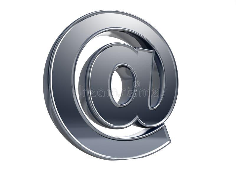 别名给符号发电子邮件 皇族释放例证
