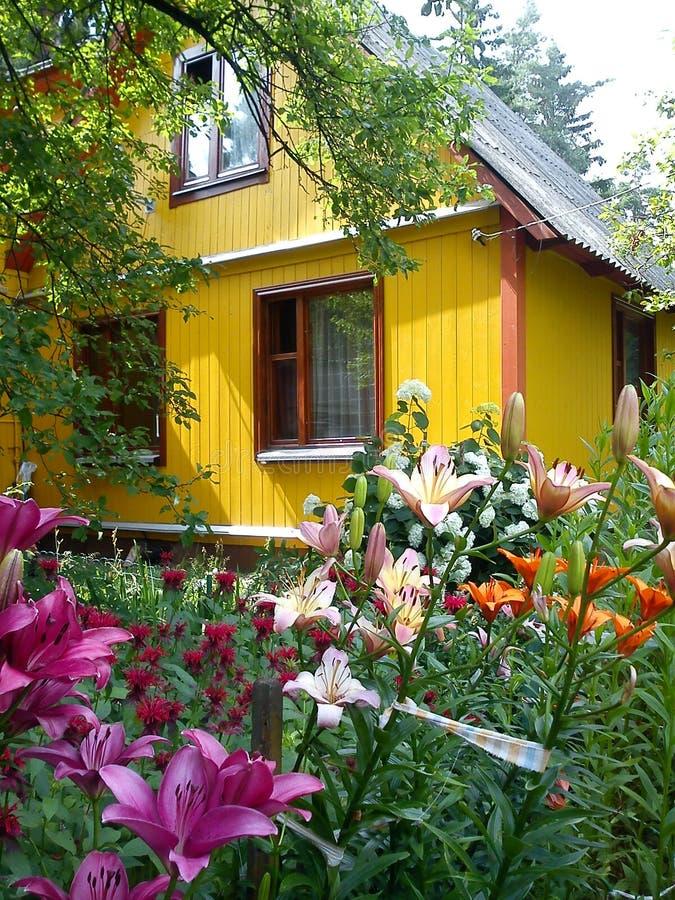 别墅在莫斯科地区 库存图片