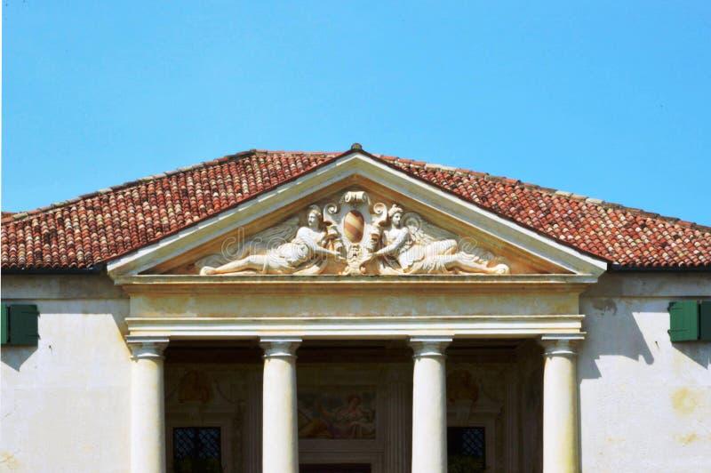 别墅安德烈亚・帕拉弟奥建筑师设计的Emo 库存照片