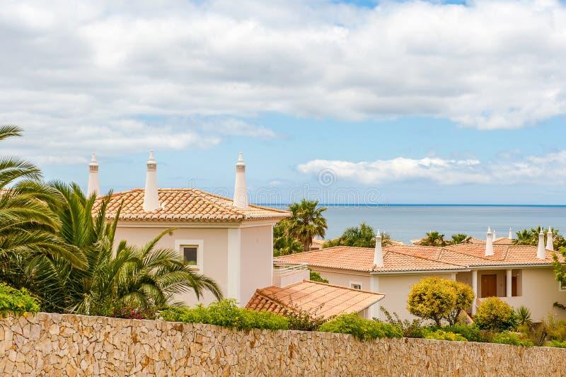 别墅房子在拉各斯,葡萄牙 免版税图库摄影