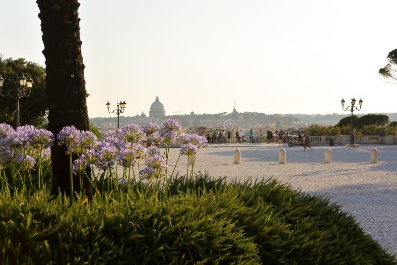 从别墅Borghese parc的梵蒂冈 库存图片