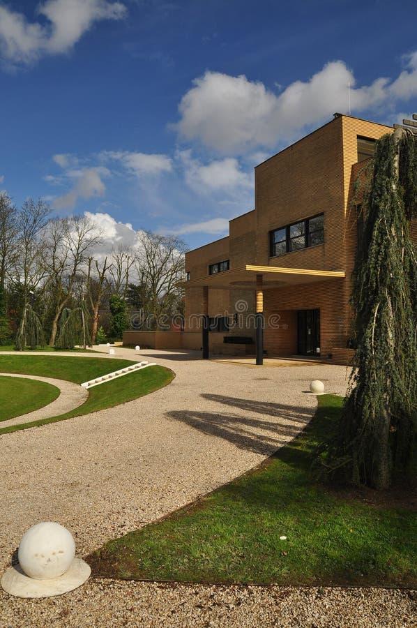 别墅Cavrois,现代派建筑学,鲁贝,法国 库存图片